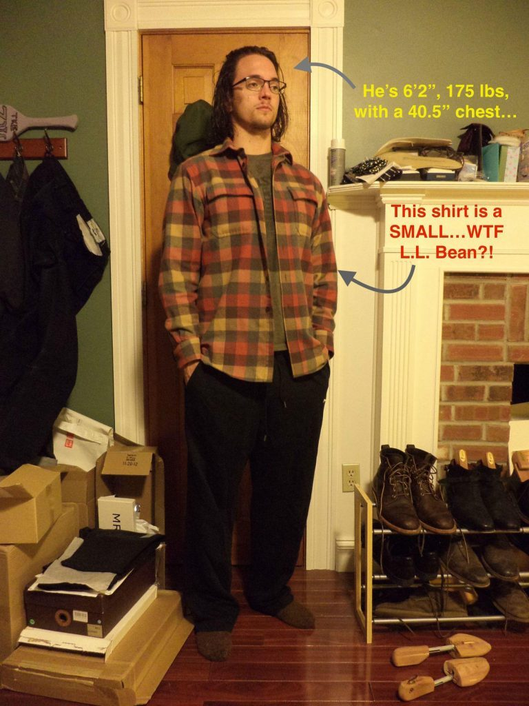LL Bean Flannel small size