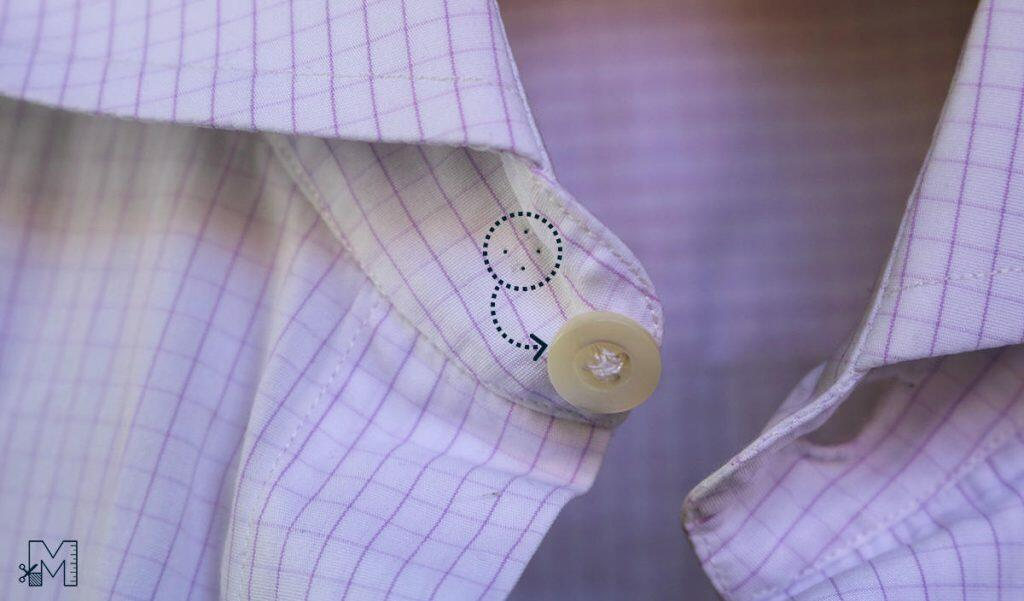 Move shirt collar button