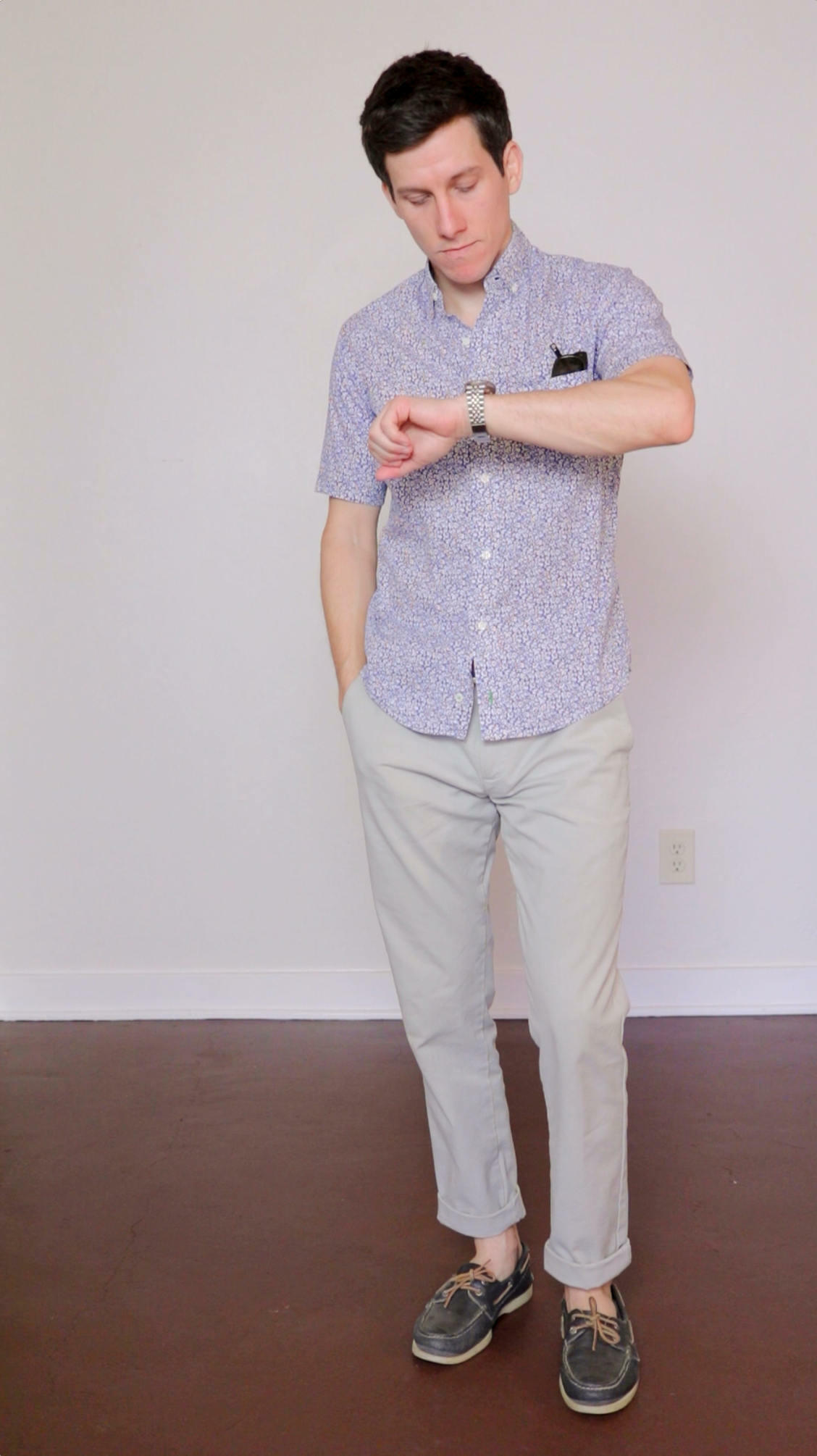 Button up shirt with chinos