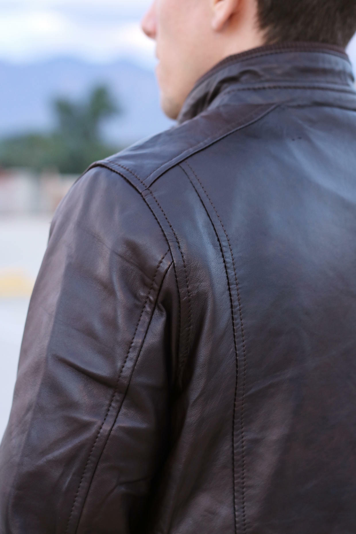 Peter Manning leather jacket in brown