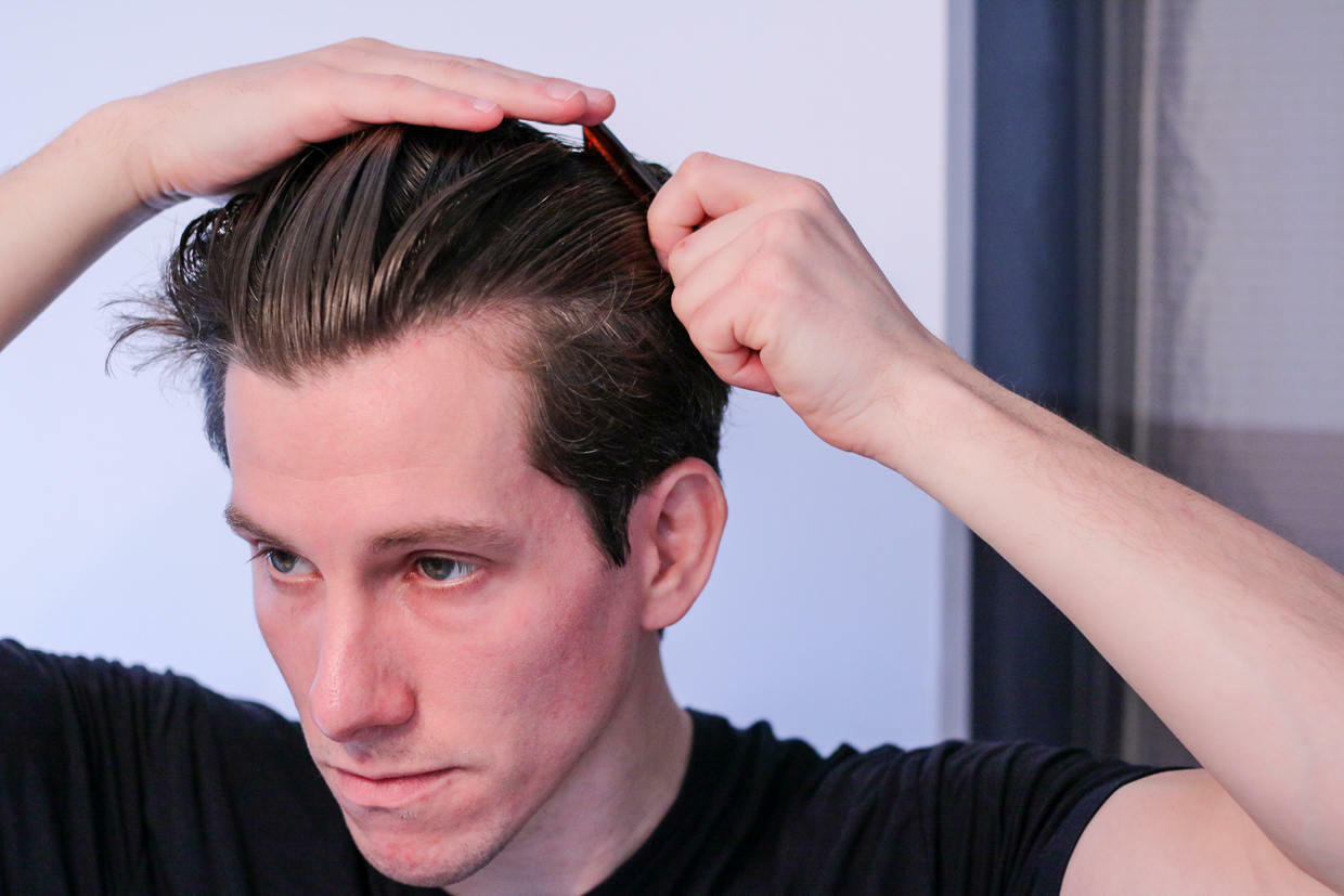 Comb hair back