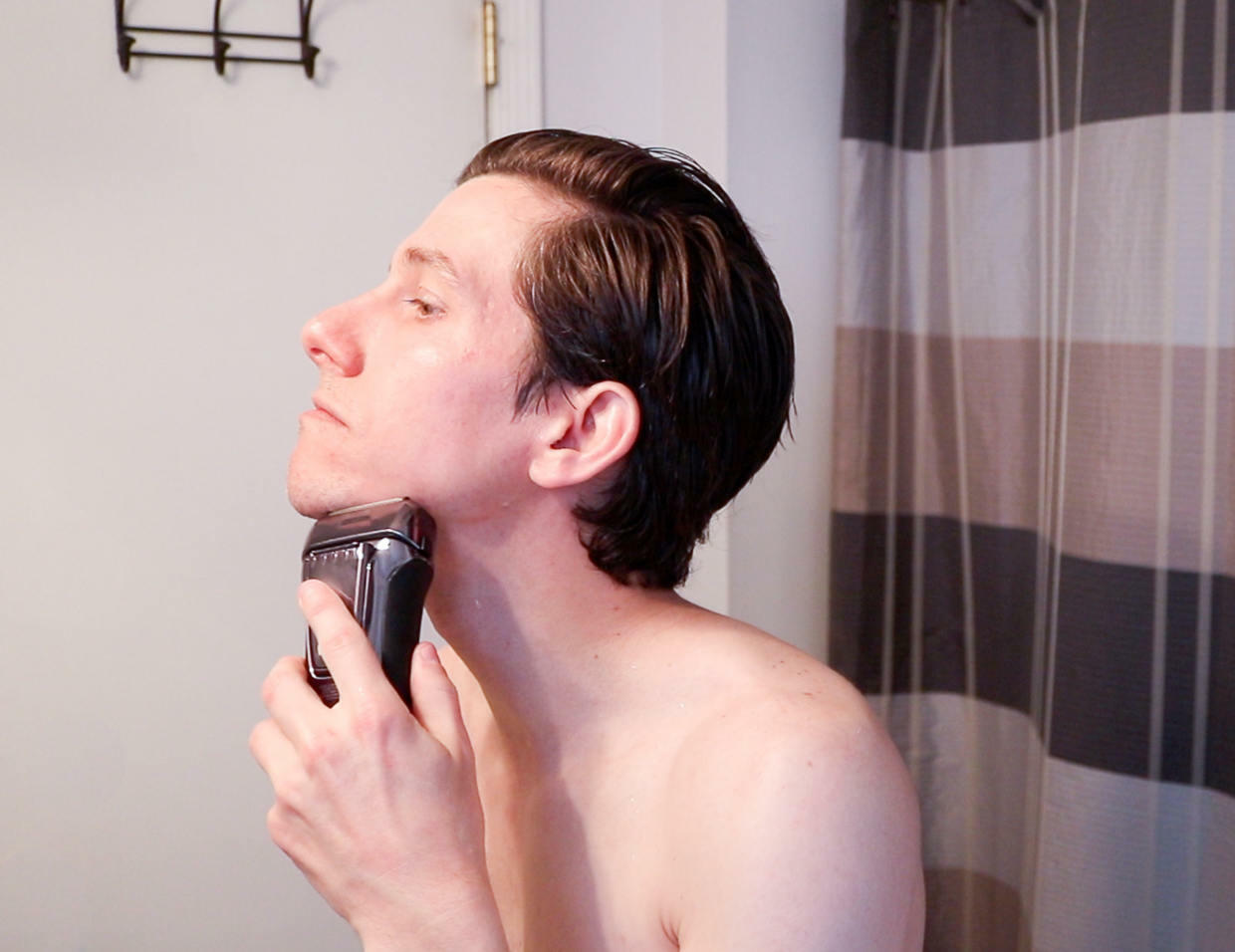 Use an electric shaver