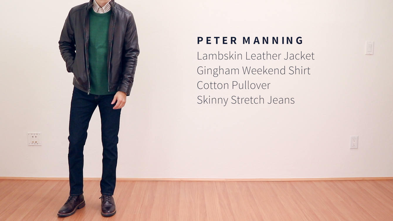Peter Manning skinny stretch jeans