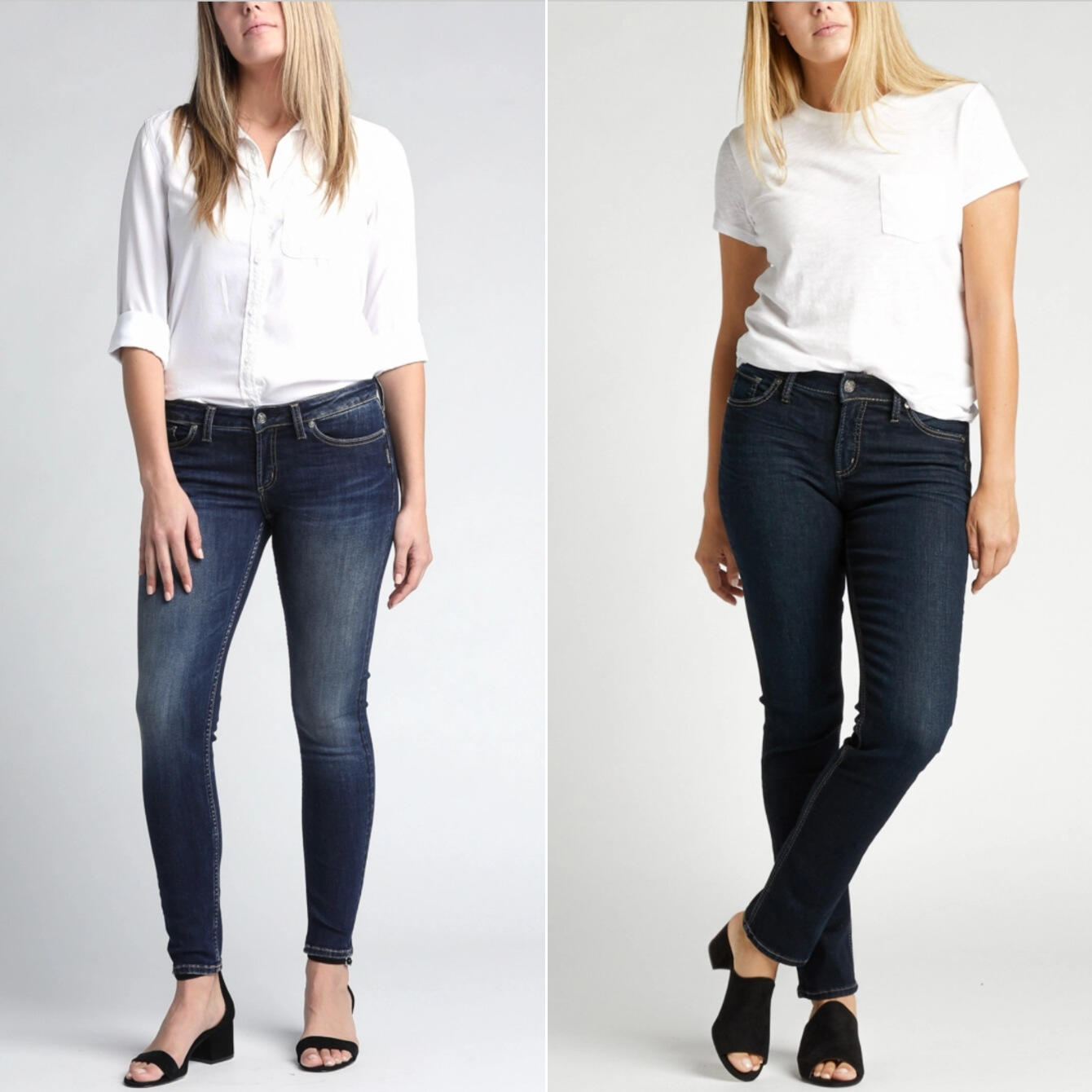 Low rise vs. high rise jeans
