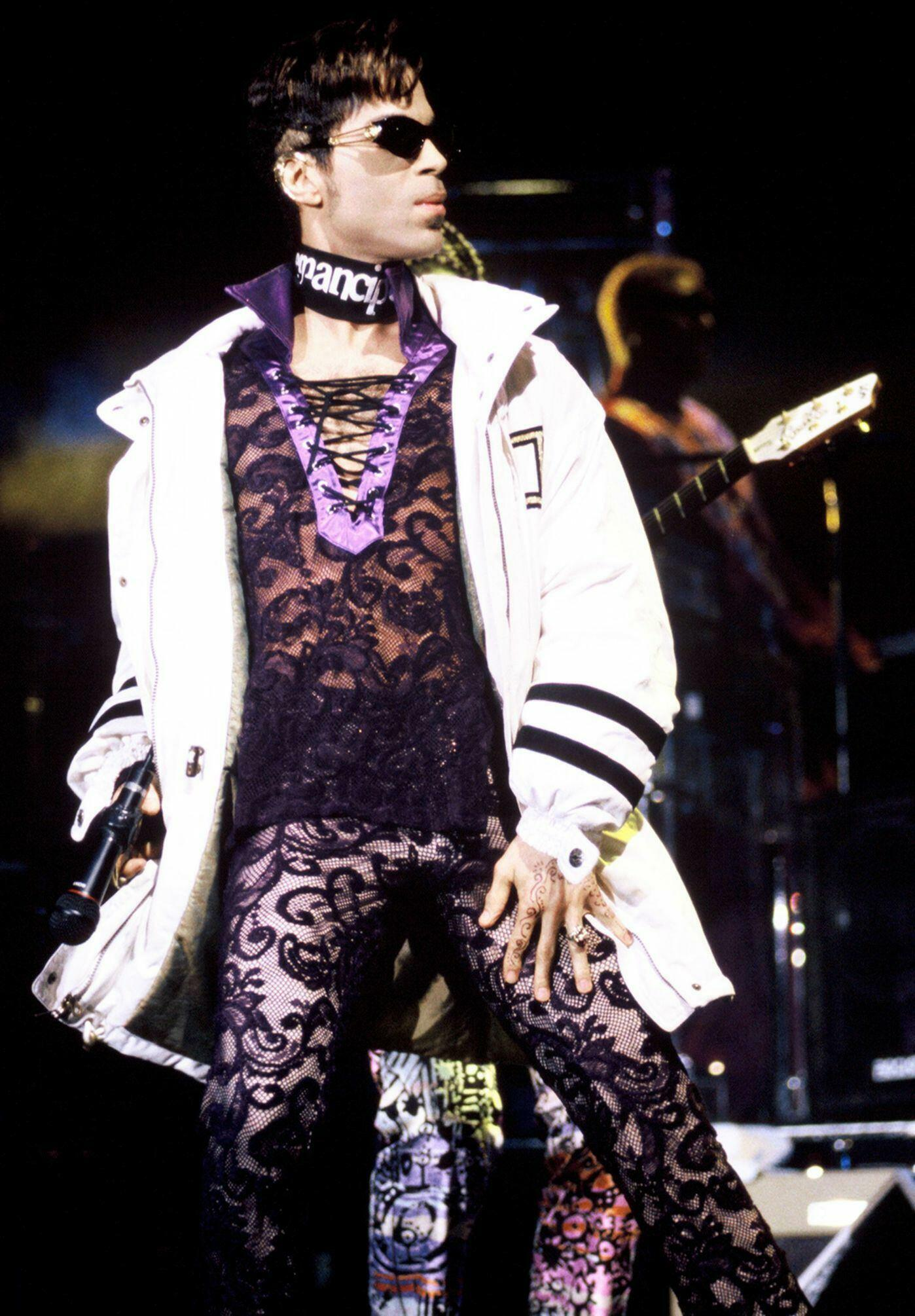 Prince performing at the San Jose State Event Center in San Jose, California