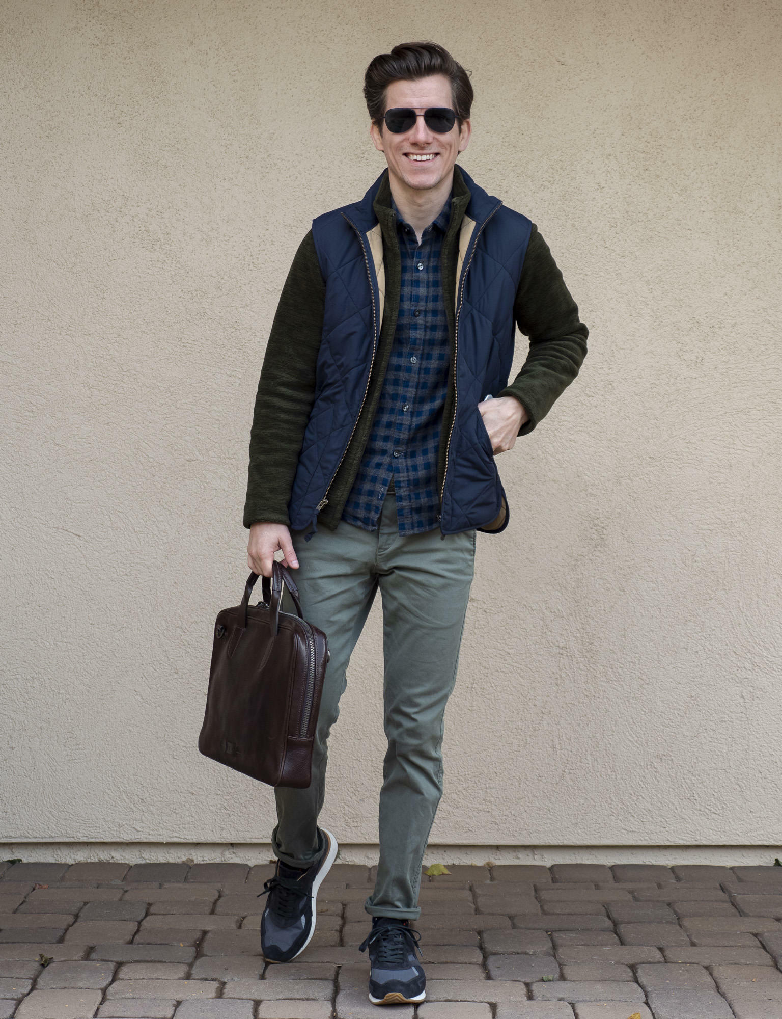 Flannel and fleece with vest