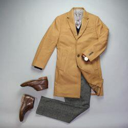 Brown leather watch business casual outfit