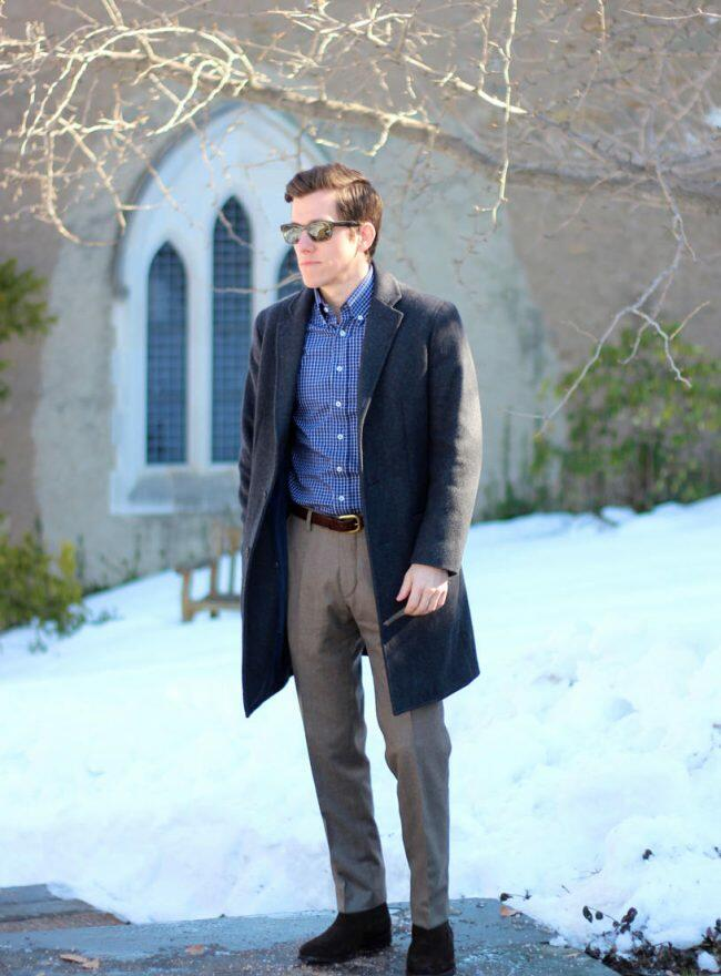 Textural winter outfit 1