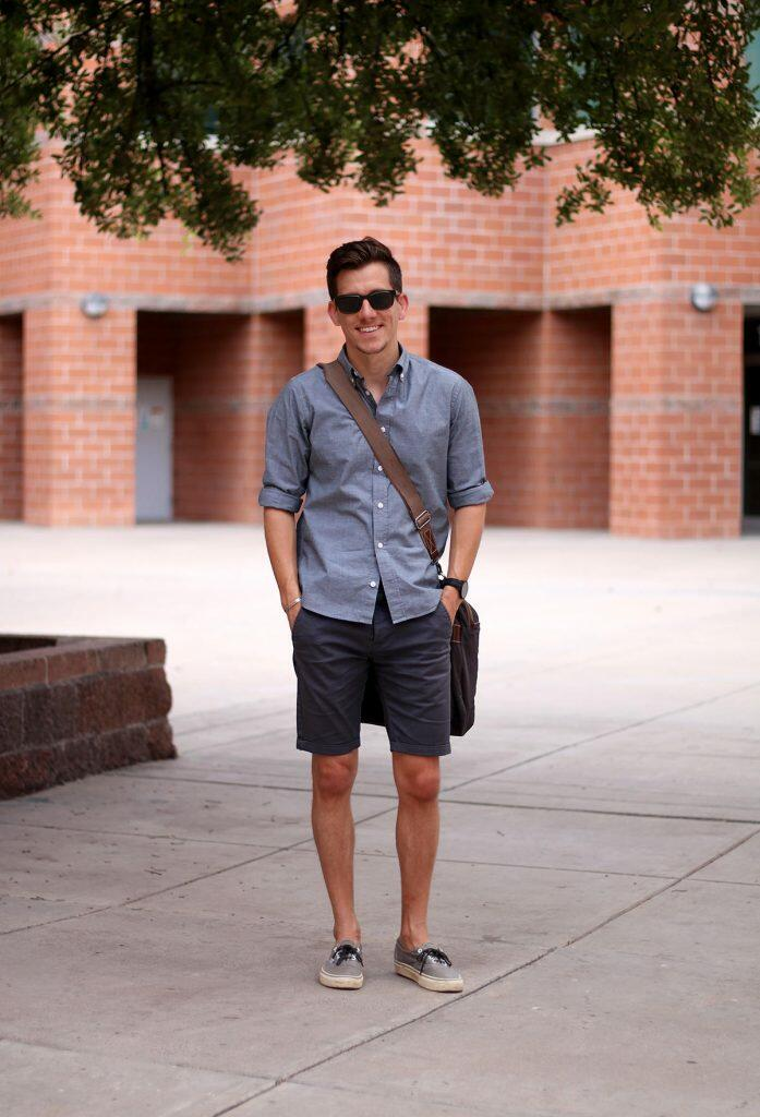 Casual greyscale outfit