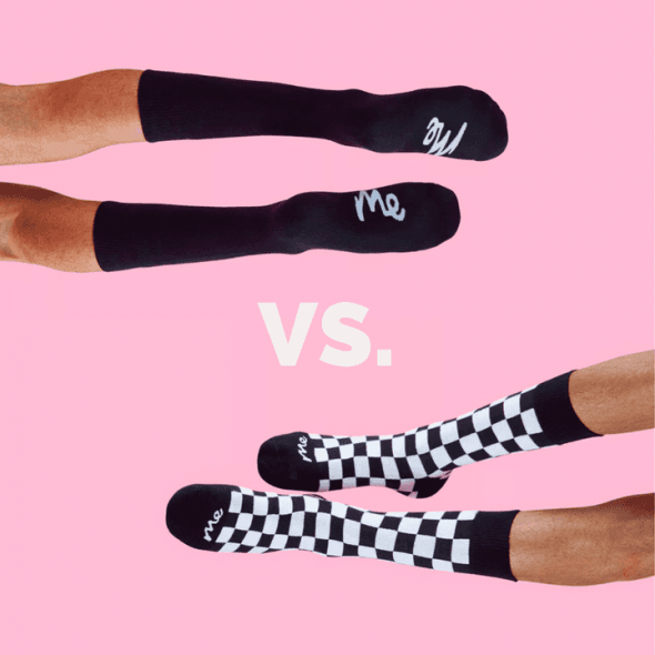 Bold vs traditional socks