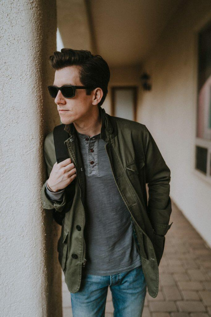 Henley with field jacket