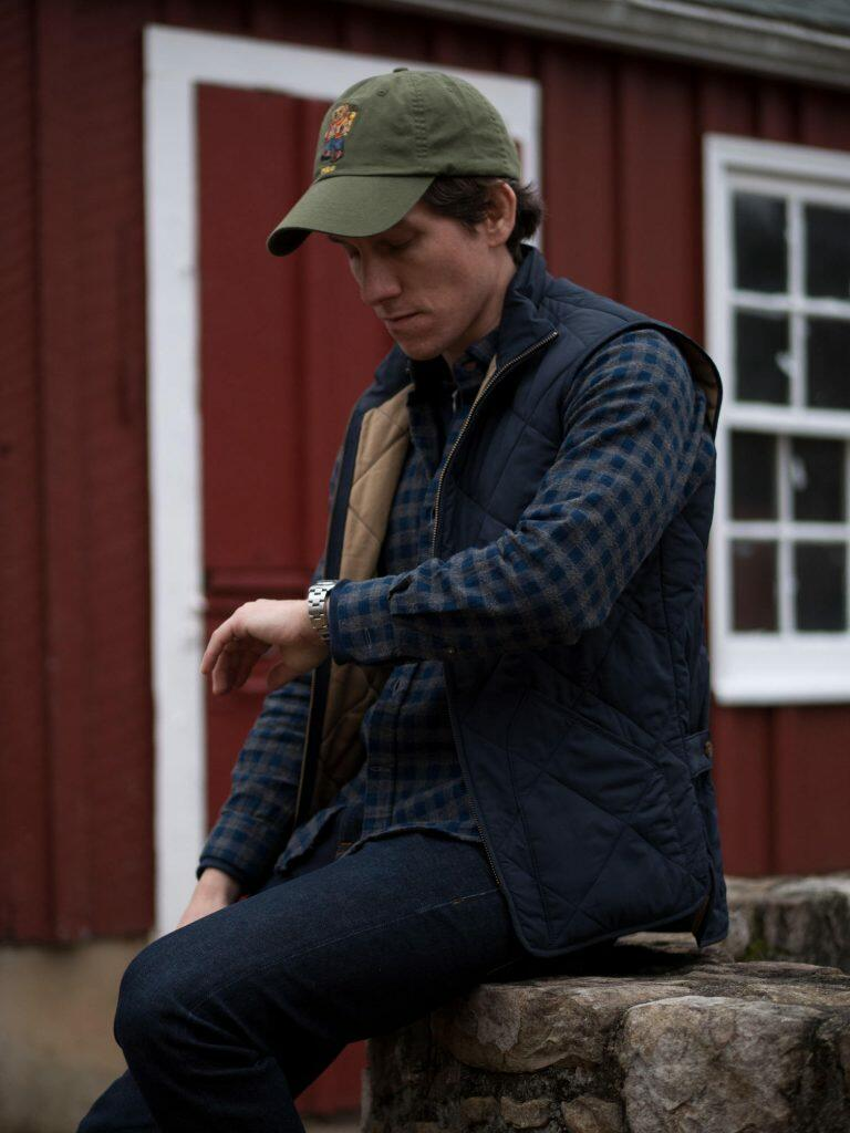 Flannel shirt with vest and cap