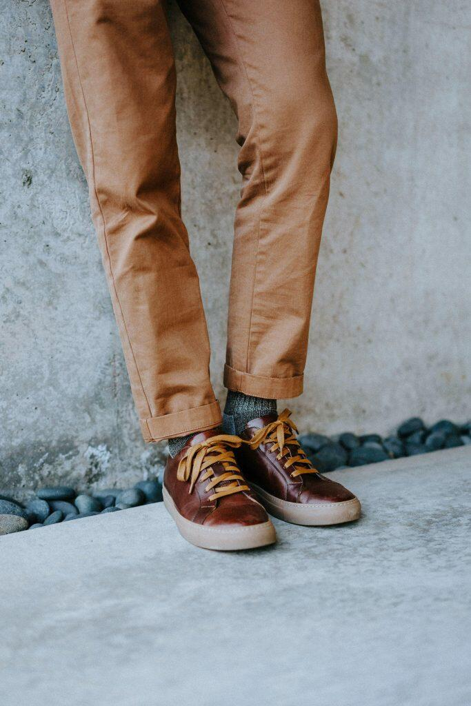 Ace Marks brown sneakers