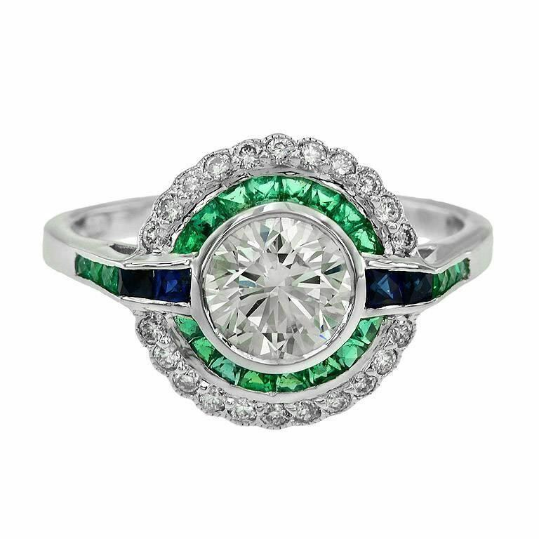 1.09 ct Art Deco era diamond engagement ring