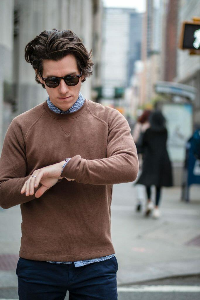 Brown cotton sweater