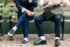 White socks with dress pants