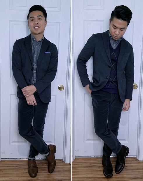 Casual sport coat with business casual outfit