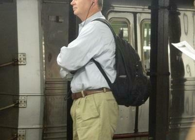 Back pack with business casual outfit
