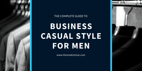 Business casual style for men