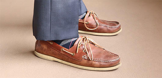 Boat shoes with trousers