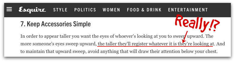Bad advice from Esquire