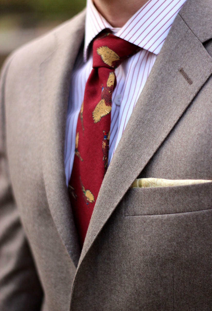 Worsted flannel suit fabric